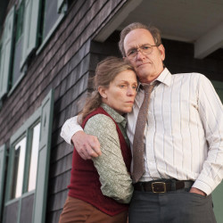 "Richard Jenkins and Frances McDormand star as Henry and Olive Kitteridge in the new HBO mini-series ""Olive Kitteridge,"" based on the novel of the same name by Maine author Elizabeth Strout."