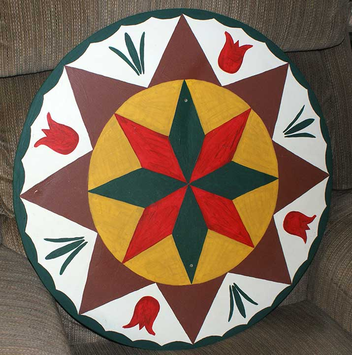 Abundant Prosperity and Smooth Sailing Through Life Pennsylvania Dutch Hex Sign