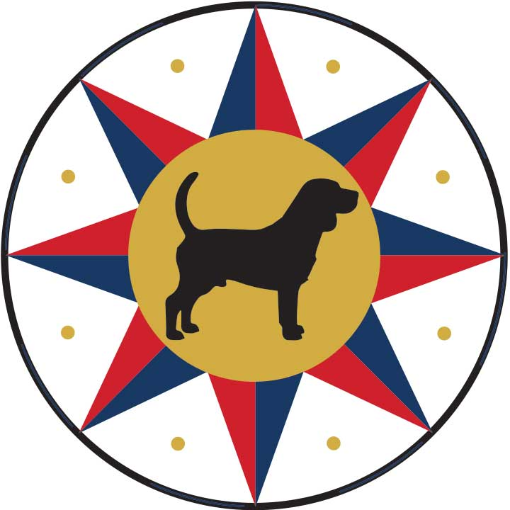 Companion animal protection Pennsylvania Dutch (Deutsch) hex sign for beagle dogs