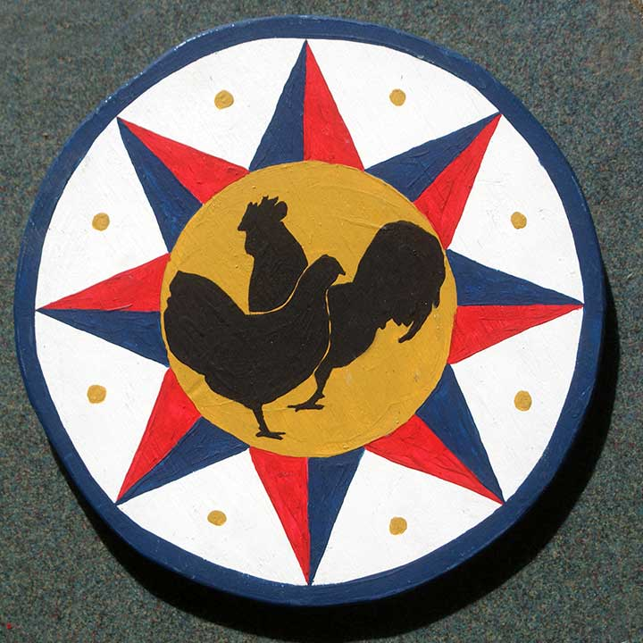 Livestock protection pennsylvania dutch hex sign for chickens