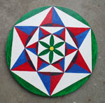 Pennsylvania Dutch hex sign Double Creators Star
