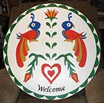 tradtional welcome Pennsylvania Dutch hex sign